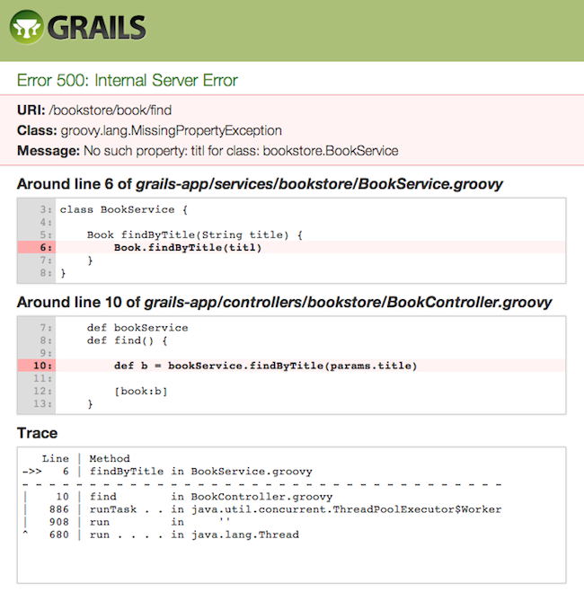 The grails framework 210 enhanced error reporting and diagnosis malvernweather Gallery